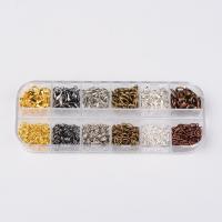 Eisen gemischt, mit Kunststoff Kasten, plattiert, frei von Blei & Kadmium, 7x12x3mm, 5x0.6mm, verkauft von Box