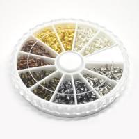 Eisen Positionierung Bead, mit Kunststoff Kasten, plattiert, gemischte Farben, frei von Blei & Kadmium, 4x5x1mm, Bohrung:ca. 0.5mm, ca. 540PCs/Box, verkauft von Box