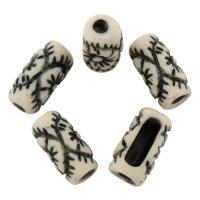 Antike Acrylperlen, Acryl, Trommel, antik imitieren, 17.5x9mm, Bohrung:ca. 3mm, 10PCs/Tasche, verkauft von Tasche