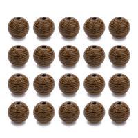Holzperlen, Holz, rund, originale Farbe, 8.5mm, Bohrung:ca. 1.5mm, 100PCs/Tasche, verkauft von Tasche