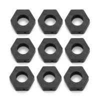 Holz Rahmenperlen, Sechseck, schwarz, 29x30mm, Bohrung:ca. 2.5mm, 20PCs/Tasche, verkauft von Tasche