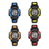 honhx® Uhrenkollektion, PU-Gummi, mit Glas & Harz & Edelstahl, unisex & für Kinder & einstellbar & LED & glänzend, keine, 43x17mm, Länge:ca. 10 ZollInch, verkauft von PC