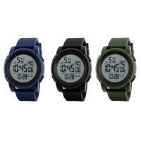 honhx® Uhrenkollektion, PU-Gummi, mit Glas & Harz & Edelstahl, einstellbar & LED & für den Menschen & glänzend, keine, 49x17mm, Länge:ca. 10 ZollInch, verkauft von PC