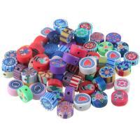 Polymer Ton Perlen , handgemacht, verschiedene Stile für Wahl, 8-10mm, Bohrung:ca. 1mm, 50PCs/Tasche, verkauft von Tasche