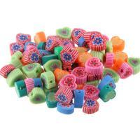 Polymer Ton Perlen , handgemacht, verschiedene Stile für Wahl, 7-10mm, Bohrung:ca. 1mm, 50PCs/Tasche, verkauft von Tasche