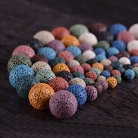Natürliche Lava Perlen, rund, verschiedene Größen vorhanden & kein Loch, keine, verkauft von Tasche