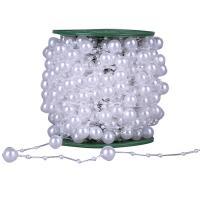 Garland-Strang Perlen, ABS-Kunststoff-Perlen, mit Kunststoffspule, rund, keine, 3mm, 12mm, 2PCs/Menge, 30m/PC, verkauft von Menge