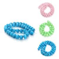 Cats Eye Perlen Schmuck, Katzenauge, rund, verschiedene Größen vorhanden, keine, Bohrung:ca. 1mm, verkauft per ca. 15 ZollInch Strang