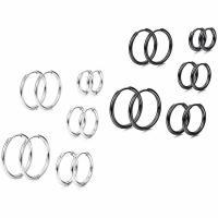 Huggie Ohrreifen, Titanstahl, plattiert, verschiedene Größen vorhanden & für Frau, keine, frei von Nickel, Blei & Kadmium, 5PCs/Menge, verkauft von Menge