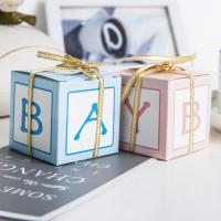 Hochzeit Süßigkeitenkasten, Papier, mit Satinband, keine, 50x50x50mm, 100PCs/Menge, verkauft von Menge
