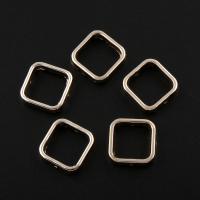 Zinklegierung Rahmenperlen, Quadrat, vergoldet, frei von Blei & Kadmium, 14x4mm, Bohrung:ca. 0.5mm, 20PCs/Tasche, verkauft von Tasche