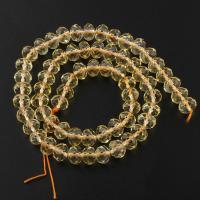 Natürlicher Citrin Perlen, Gelbquarz Perlen, Rondell, facettierte, 8x6mm, Bohrung:ca. 1mm, verkauft per ca. 15 ZollInch Strang