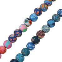 Polymer Ton Perlen , rund, für Frau, keine, 7.50x9x9mm, Bohrung:ca. 2mm, Länge:ca. 15.5 ZollInch, 5SträngeStrang/Menge, ca. 50PCs/Strang, verkauft von Menge