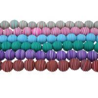 Polymer Ton Perlen , rund, für Frau & großes Loch, keine, 12x13x13mm, Bohrung:ca. 3mm, Länge:ca. 12.5 ZollInch, 5SträngeStrang/Menge, ca. 24PCs/Strang, verkauft von Menge