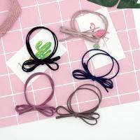 Baumwolle Haarschmuck elastisch, mit Gummiband, Schleife, keine, 50mm,70mm, 50PCs/Menge, verkauft von Menge