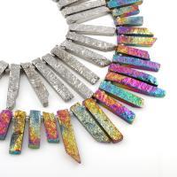 Natürlicher Quarz Perlen Schmuck, keine, 10x26x7mm-10x65x5mm, Bohrung:ca. 1mm, verkauft per ca. 15.5 ZollInch Strang