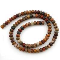 Pinus koraiensis Perle, flache Runde, verschiedene Größen vorhanden, Bohrung:ca. 1mm, verkauft per ca. 15.5 ZollInch Strang
