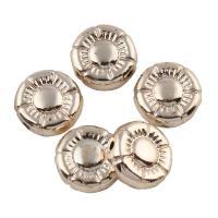 Zink Legierung Perlen Schmuck, Zinklegierung, flache Runde, vergoldet, frei von Blei & Kadmium, 10x4mm, Bohrung:ca. 1mm, 20PCs/Tasche, verkauft von Tasche