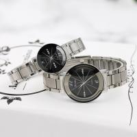 Ehepaar Uhrenarmbänder, Edelstahl, mit Glas & Zinklegierung, verschiedene Größen vorhanden & für paar & mit Strass, keine, Länge:ca. 9 ZollInch, verkauft von PC