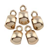 Zinklegierung Stiftöse Perlen, vergoldet, frei von Blei & Kadmium, 7x13x10mm, Bohrung:ca. 2-6mm, 20PCs/Tasche, verkauft von Tasche