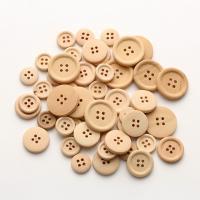 Holz Vierlochknöpfe, unisex & verschiedene Größen vorhanden, 100PCs/Menge, verkauft von Menge