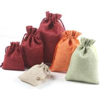 Baumwolle Schmuckbeutel, mit Leinen, verschiedene Größen vorhanden, keine, 10PCs/Menge, verkauft von Menge