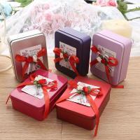 Hochzeit Süßigkeitenkasten, Eisen, Rechteck, plattiert, gemischte Farben, 123x92x40mm, 10PCs/Menge, verkauft von Menge