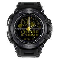 RISTOS® Uhrenkollektion, Silikon, mit Glas & Edelstahl, plattiert, Multifunktions & unisex & einstellbar & LED & glänzend, keine, 18mm, Länge:ca. 11 ZollInch, verkauft von PC