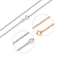 925 Sterling Silber Halskette Kette, 925er Sterling Silber, plattiert, unterschiedliche Länge der Wahl & Singapur-Kette & für Frau, verkauft von Strang