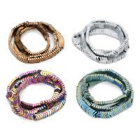 Nicht-magnetische Hämatit Perlen, Non- magnetische Hämatit, plattiert, keine, 6.2mm, Bohrung:ca. 1mm, ca. 100PCs/Strang, verkauft per ca. 15 ZollInch Strang