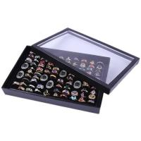 Baumwollsamt Ring Kasten, mit Karton-box, Rechteck, keine, 300x180x45mm, verkauft von PC