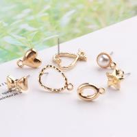 Zinklegierung Anhänger, mit Kunststoff Perlen, goldfarben plattiert, verschiedene Stile für Wahl & für Frau, frei von Nickel, Blei & Kadmium, Bohrung:ca. 0.5mm, 20PCs/Menge, verkauft von Menge
