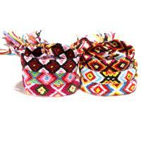 Baumwollfaden Armband, geflochten & verschiedene Muster für Wahl & für Frau, verkauft per ca. 15.7 ZollInch Strang