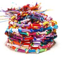 Baumwollfaden Armband, geflochten & für Frau & Multi-Strang, Länge:ca. 12.9 ZollInch, 10SträngeStrang/Tasche, verkauft von Tasche