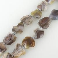 Natürliche Botswana Achat Perlen, 19-22x20-22x6-8mm, Bohrung:ca. 2mm, ca. 18PCs/Strang, verkauft per ca. 16 ZollInch Strang