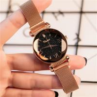 DIMINI® Uhrenkollektion, Edelstahl, mit Glas, flache Runde, plattiert, Sternendesign & für Frau, keine, 36mm, Länge:ca. 8.6 ZollInch, verkauft von PC