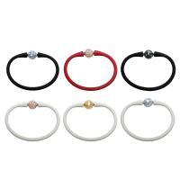 Silikon Armband, mit Muschel, rund, für Frau, keine, 12mm, verkauft per ca. 7.5 ZollInch Strang