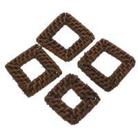 Rohrstock Kostüm Zubehör, Squaredelle, handgefertigt & gewebte Muster, 32x5mm-37x5mm, 50PCs/Tasche, verkauft von Tasche