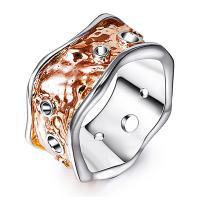 Messing Fingerring, plattiert, verschiedene Größen vorhanden & für Frau & zweifarbig & hohl, frei von Nickel, Blei & Kadmium, 22mm, verkauft von PC