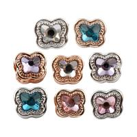 Zink Legierung Europa Perlen, Zinklegierung, Schmetterling, plattiert, ohne troll & mit Strass, keine, frei von Blei & Kadmium, 11x10x12mm, Bohrung:ca. 5mm, 5PCs/Tasche, verkauft von Tasche
