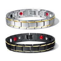 Titanstahl Armband, plattiert, für den Menschen, keine, 12mm, verkauft per ca. 8 ZollInch Strang