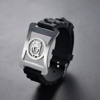 Titanstahl Armband, mit Silikon, einstellbar & verschiedene Stile für Wahl & für den Menschen, verkauft per ca. 8.4 ZollInch, ca. 9.4 ZollInch Strang