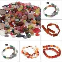 Mischedelstein Perlen, Edelstein, gemischt, 5x10x5mm-30x48x9mm, Bohrung:ca. 1mm, 2kg/Tasche, verkauft von Tasche