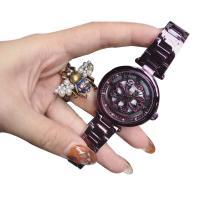 DIMINI® Uhrenkollektion, Edelstahl, mit Glas, flache Runde, plattiert, für Frau & wasserdicht & mit Strass & hohl, keine, 36x11mm, Länge:ca. 8.6 ZollInch, verkauft von PC