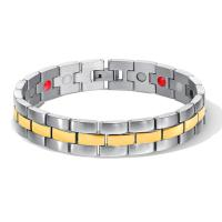 Titanstahl Armband, plattiert, einstellbar & für den Menschen, keine, 14.7mm, verkauft per ca. 8 ZollInch Strang