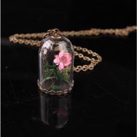Glassturz Halskette, organisches Glas, Oval-Kette & verschiedene Stile für Wahl & für Frau, 350x355x20mm, verkauft von Strang