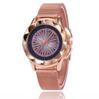 Damen Armbanduhr, Zinklegierung, mit Glas, Rósegold-Farbe plattiert, einstellbar & für Frau & mit Strass, keine, frei von Nickel, Blei & Kadmium, 38x8mm, Länge:ca. 9 ZollInch, verkauft von PC