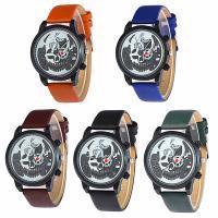 Damen Armbanduhr, PU Leder, mit Glas & Zinklegierung, metallschwarz plattiert, einstellbar & für Frau, keine, 40x8mm, Länge:ca. 9.4 ZollInch, verkauft von PC