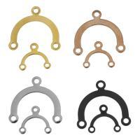 Edelstahl Schmuckverbinder, plattiert, verschiedene Größen vorhanden & 1/2-Schleife, keine, 100PCs/Tasche, verkauft von Tasche
