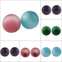 Cats Eye Perlen Schmuck, Katzenauge, rund, kein Loch, gemischte Farben, 19mm, 10PCs/Tasche, verkauft von Tasche